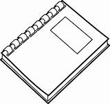 Spiral Notebook Clip Coloring Binder Rings Ring Planner Sketchite sketch template