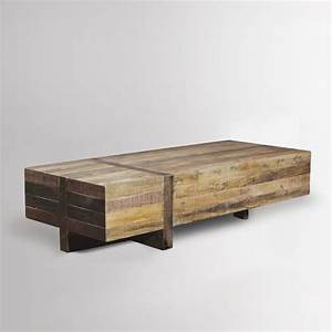 Emmersontm reclaimed wood block coffee table west elm for Reclaimed pine wood coffee table