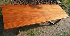 African Mahogany Slab Table - Contemporary - Dining Tables