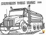 Coloring Truck Kenworth Dump Trucks Boys Colouring Construction Template Dirty Cabover Yescoloring sketch template