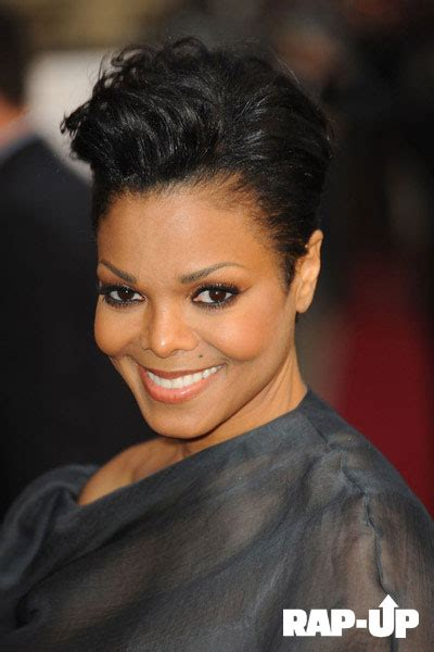 janet jackson rocks short haircut  london film screening