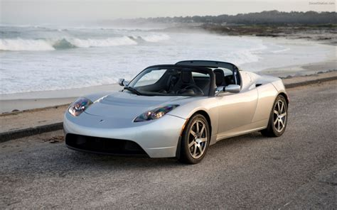 tesla roadster sport widescreen car wallpaper 09