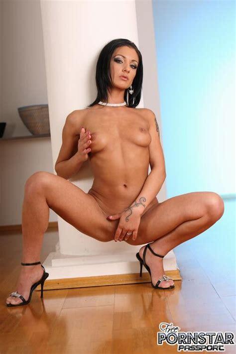 Tall Brunette Pornstar Destiny Stripping Her Sexy Lingeria
