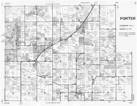 porter county indiana genweb township plat maps