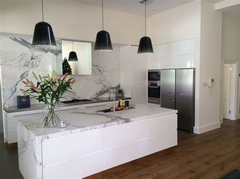 white marble kitchen island white gloss 2 pac kitchen with marble island and