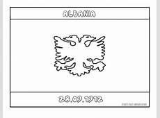 Printable Flag of albania coloring page Printable