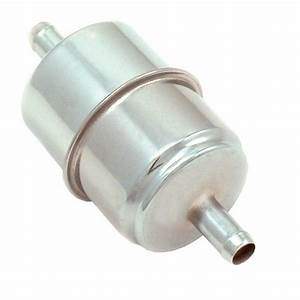 Spectre 5965 Chrome Canister Style Inline Fuel Filter 3  8