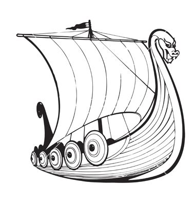 Viking Boat Drawing by Viking Ship Drawing Clipart Best