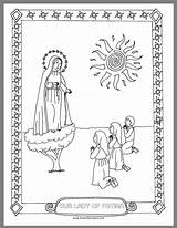 Fatima Lady Catholic Crafts Coloring Craft Holiday Drawn2bcreative sketch template