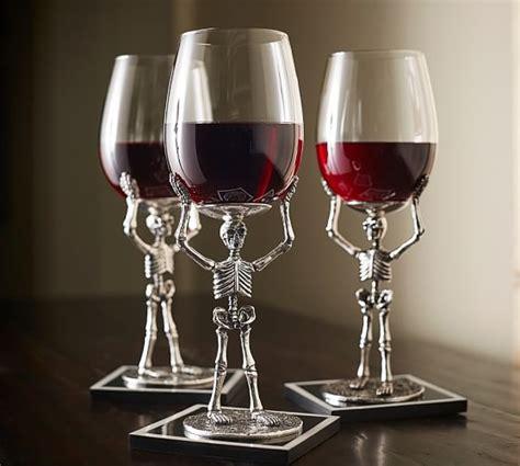 Pottery Barn Skeleton by Skeleton Wine Glasses Pottery Barn