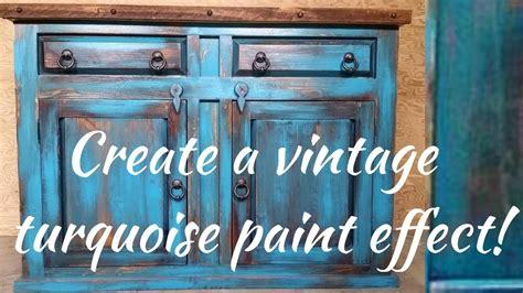 Kitchen Cupboard Paint Ideas - diy vintage turquoise paint technique youtube