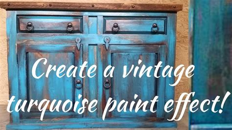 diy vintage turquoise paint technique youtube
