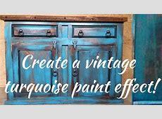 Diy vintage turquoise paint technique YouTube