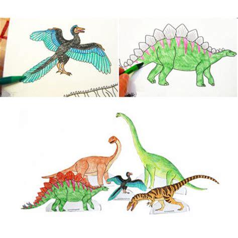 coloriage chambre dessins de dinosaures à colorier