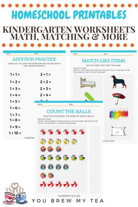 Printable Kindergarten Homeschool Pages