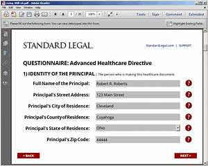 Living will healthcare legal forms software standard legal for Best legal document software