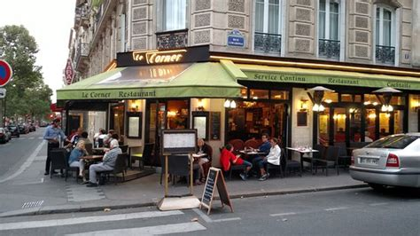 The Distinctive Exterior  Picture Of Le Corner Cafe, Paris Tripadvisor