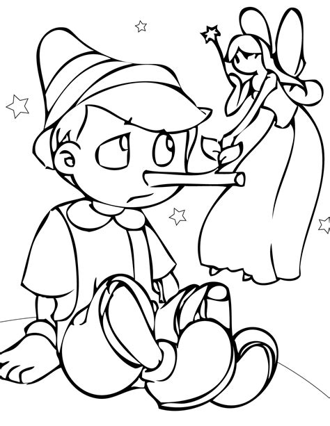 Free Printable Pinocchio Coloring Pages For Kids