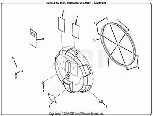 Homelite Aez31023 15 U0026quot  Surface Cleaner Attachment Parts Diagram For General Assembly