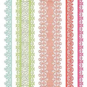 Pink Lace Border Clip Art