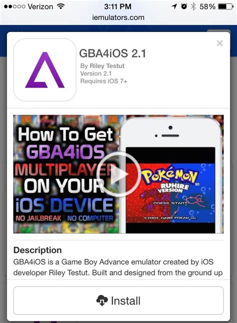 The Best Gameboy Advance Emulator For Ios Is Back, No