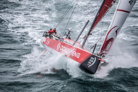 volvo ocean race boats send   knots video