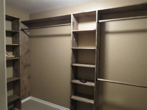 diy walk in closet organizers