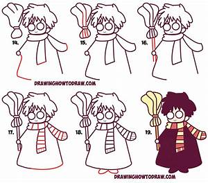How to Draw Cute Harry Potter (Chibi / Kawaii) Easy Step ...