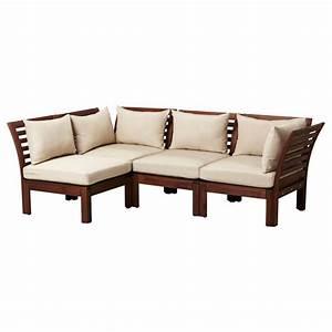 Ikea applaro sofa great outdoors pinterest for Outdoor sectional sofa ikea