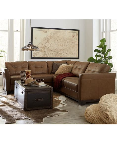 Leather Living Room Furniture Collection Review by Martino Leather Sectional Living Room Furniture Collection