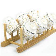amazoncom innerneed bamboo wooden dish rack plates