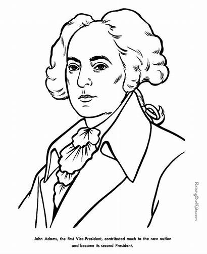 Adams John Coloring Pages Facts President Presidents