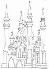 Moschee Coloring Ramadan Mosque Islamische صور Kinder اسلاميه Kunst Islamic Bastelideen Mehr Mosques Dazu Tolle Kreative Malen Zeichnen Architektur Bleistift sketch template