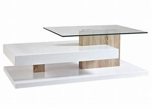Table Basse Grise Pas Cher : table basse de salon en verre rectangulaire design en image ~ Teatrodelosmanantiales.com Idées de Décoration