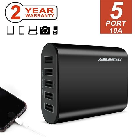 black   port usb portable home travel wall charger