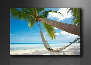 Strandbilder Auf Leinwand : karibik strand palme ~ Watch28wear.com Haus und Dekorationen