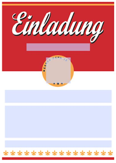 drucke selbst originelle geburtstagseinladung zum ausdrucken