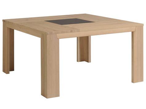buffets cuisine table à manger carré bois et verre l140xp140xh77 5cm bruts