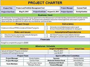 Project initiation templates 8 free downloads for Program charter template
