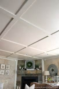 yellow sofa faux coffered ceiling confessions of a serial do it yourselfer