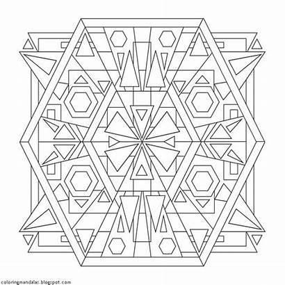 Mandalas Coloring Sanctuary Designs Sacred Geometry Geometric