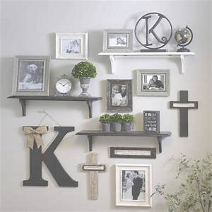 quirky cube shelf decorating ideas wild wood home ideas With kitchen colors with white cabinets with photo frame puzzle piece wall art