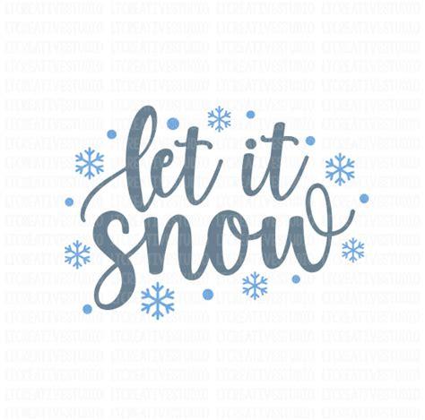 snow svg snow svg christmas svg silhouette cut etsy
