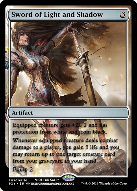 magic  gathering sword  light  shadow  asliceofunagi  deviantart