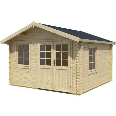 cabanes en bois leroy merlin abri de jardin bois lessebo ep 44 mm leroy merlin