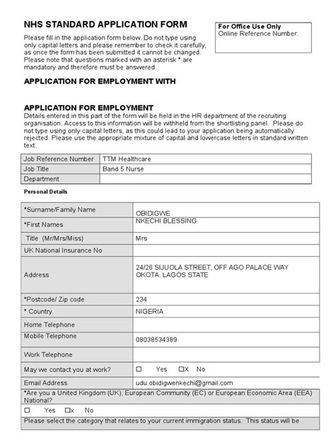 Thousands of applications are received for approximately. NHS Application - TTM | Nursing | Patient