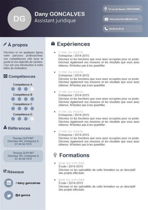 Exemple Cv Professionnel Word by Exemples De Cv Word 224 T 233 L 233 Charger Mon Beau Cv