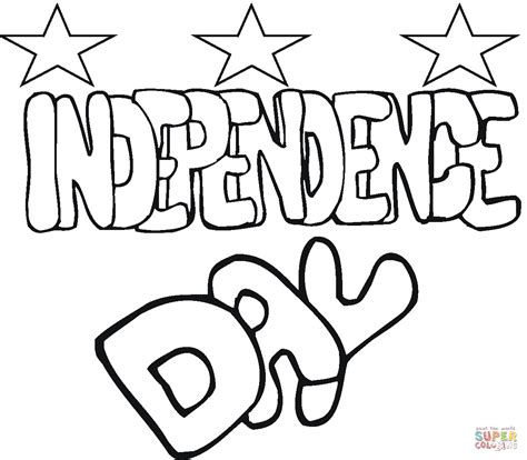independence day  coloring page  printable