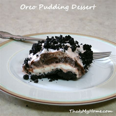 desserts with chocolate pudding oreo pudding dessert recipes food and cooking
