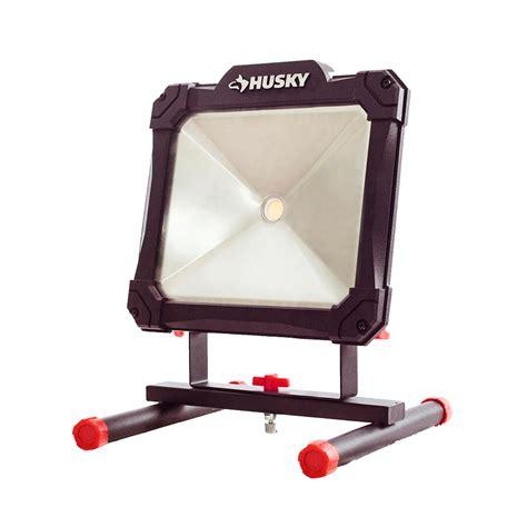 home depot led work light husky 2500 lumen portable led work light k40068 the home